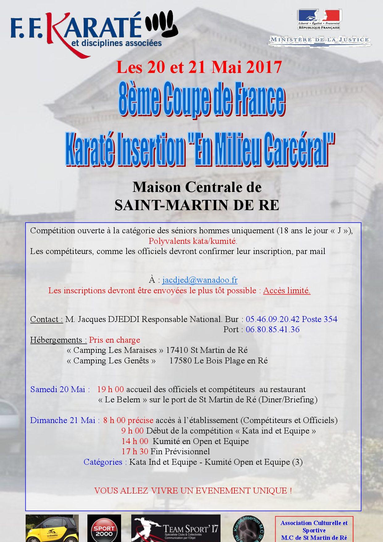 Affiche 8eme coupe de france karate insertion