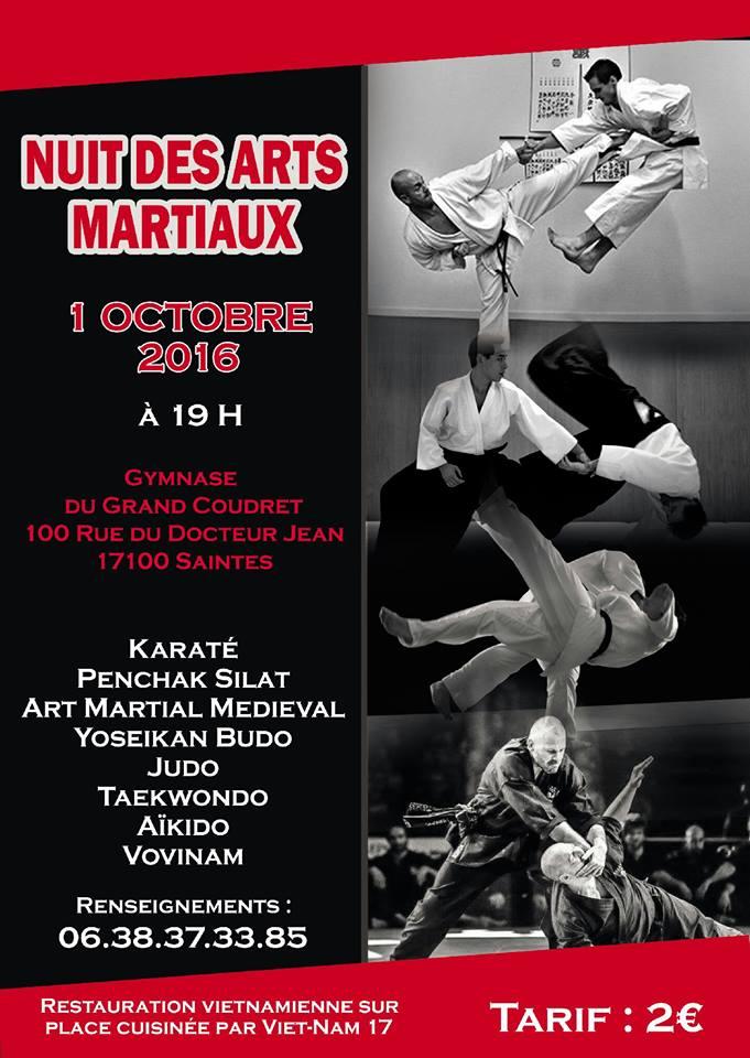 Nuit arts martiaux 10 2016